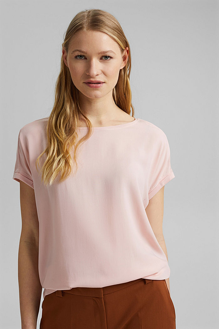 T-shirt containing organic cotton/TENCEL™, NUDE, detail image number 0