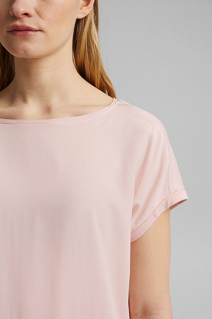 T-shirt containing organic cotton/TENCEL™, NUDE, detail image number 2