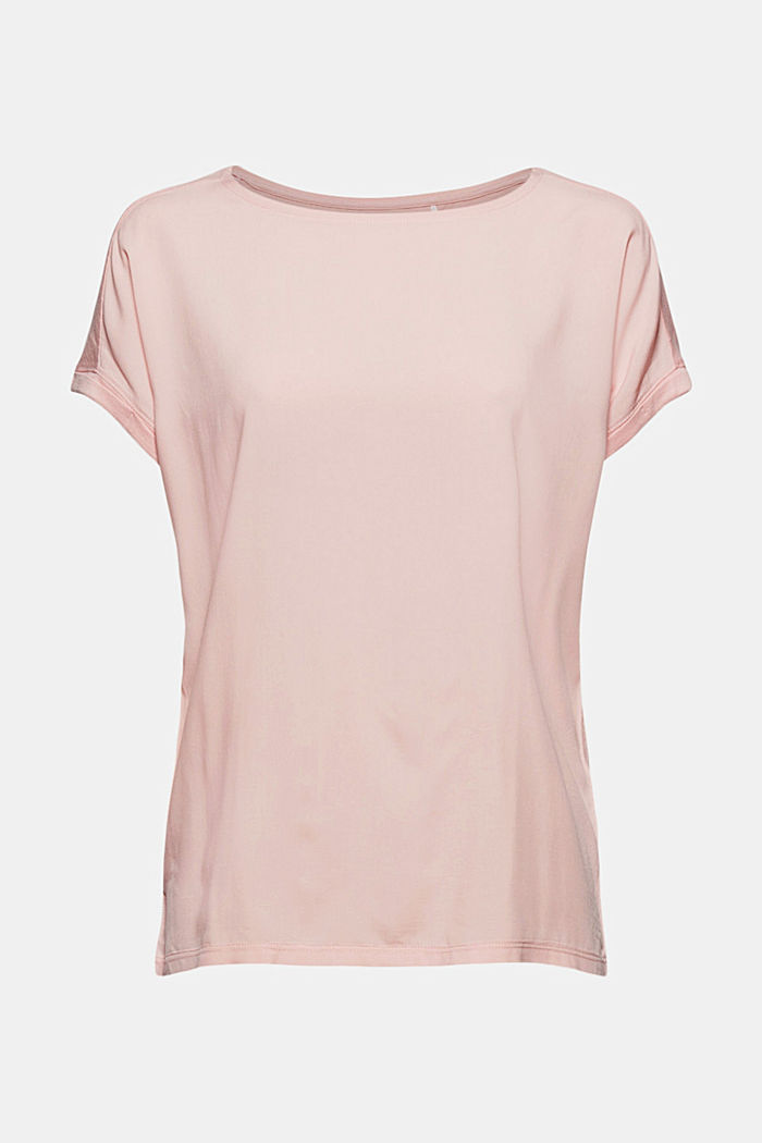 T-Shirt mit Organic Cotton/TENCEL™, NUDE, overview