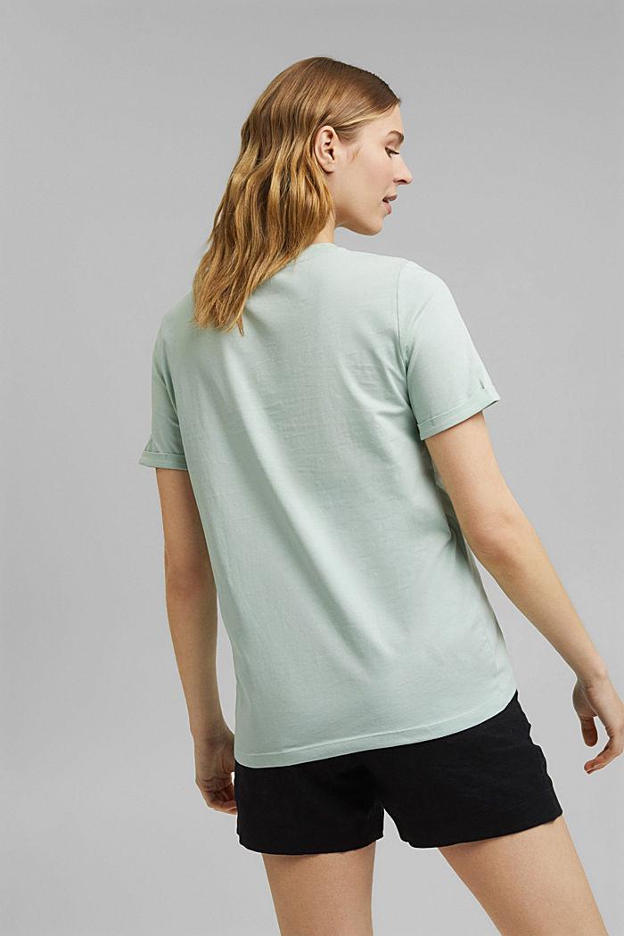T-shirt en coton biologique à illustration, LIGHT AQUA GREEN, detail image number 3