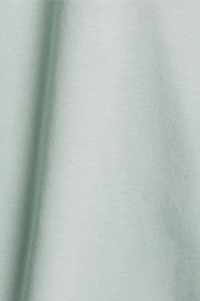T-shirt en coton biologique à illustration, LIGHT AQUA GREEN, detail image number 4