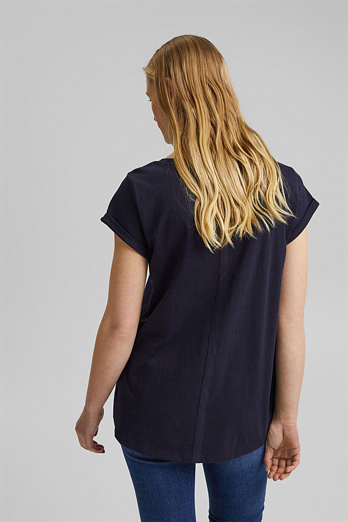 T-Shirt mit Print, 100% Organic Cotton, NAVY, detail image number 3