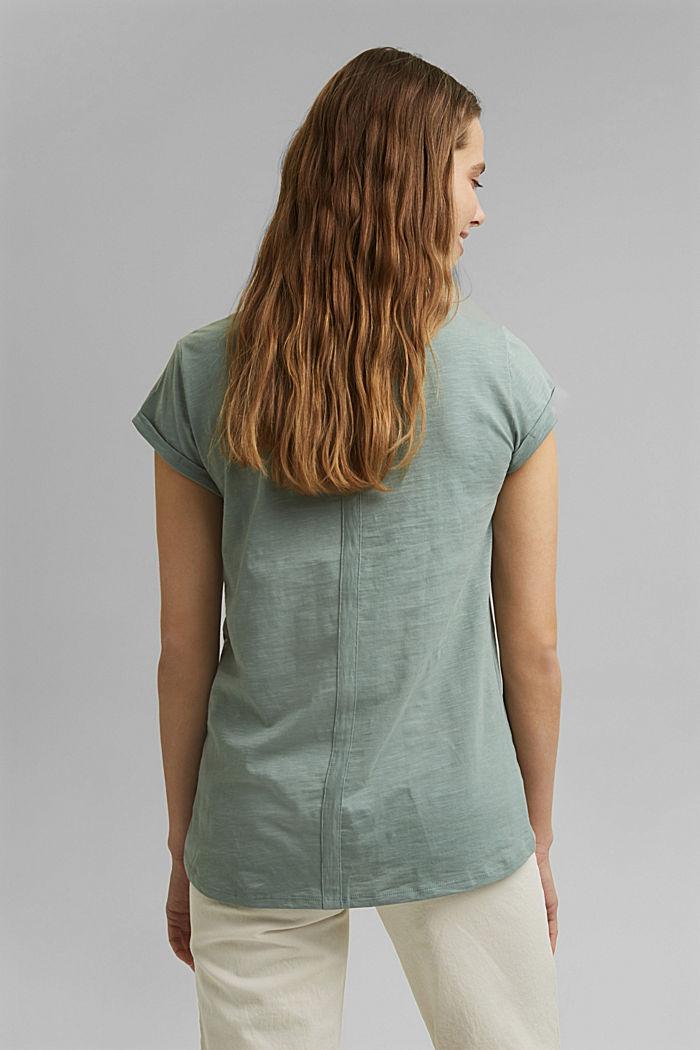 Printed T-shirt, 100% organic cotton, TURQUOISE, detail image number 3