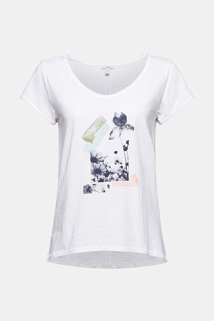T-Shirt mit Print, 100% Organic Cotton, WHITE, detail image number 6