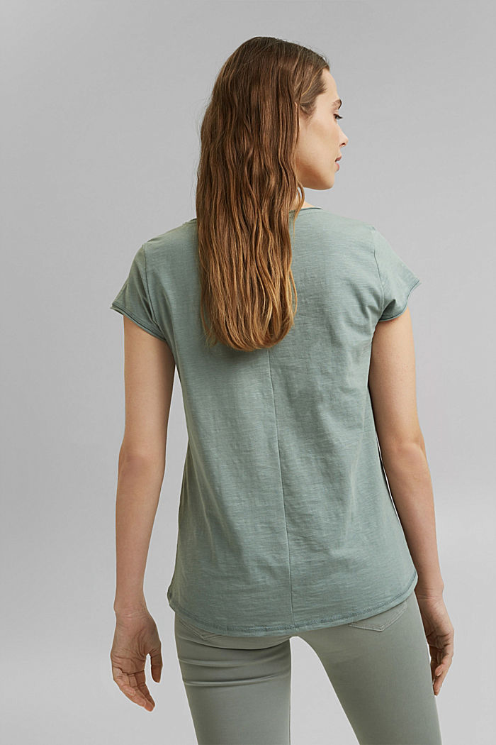 Printed T-shirt, 100% organic cotton, TURQUOISE, detail image number 3