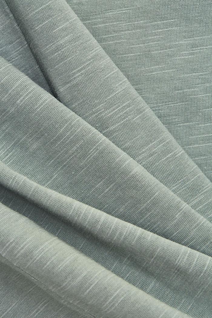 T-Shirt mit Print, 100% Organic Cotton, TURQUOISE, detail image number 4