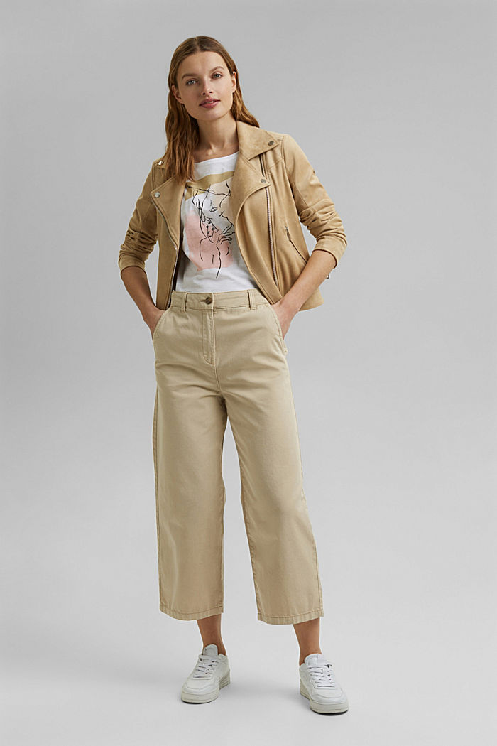 T-Shirt mit Line-Art, Organic Cotton, WHITE, detail image number 1