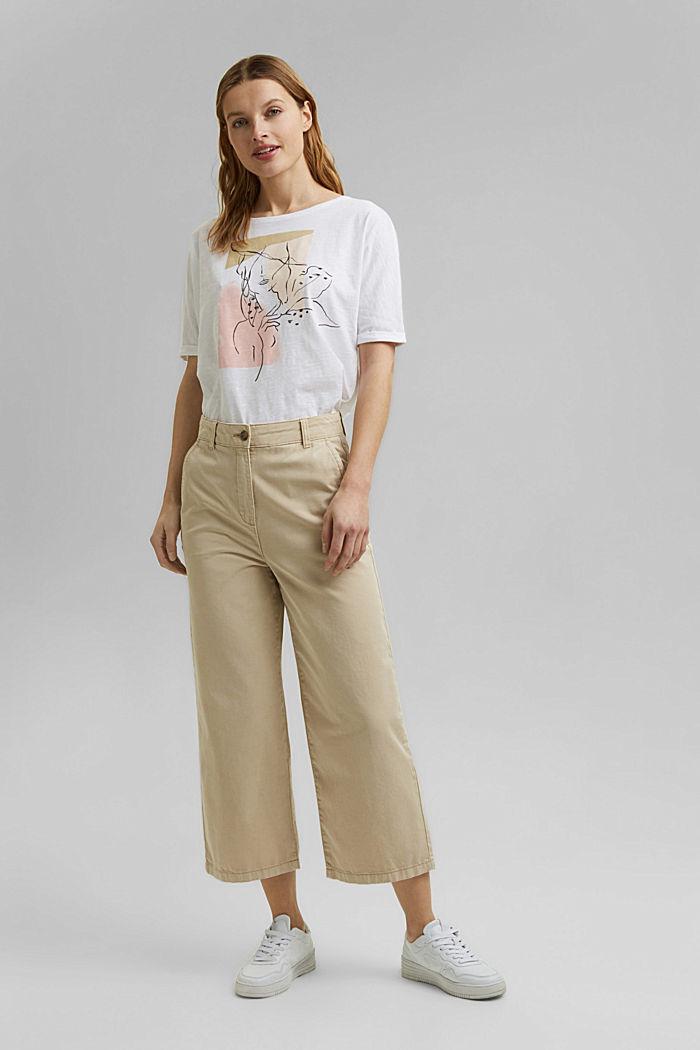 T-Shirt mit Line-Art, Organic Cotton, WHITE, detail image number 6