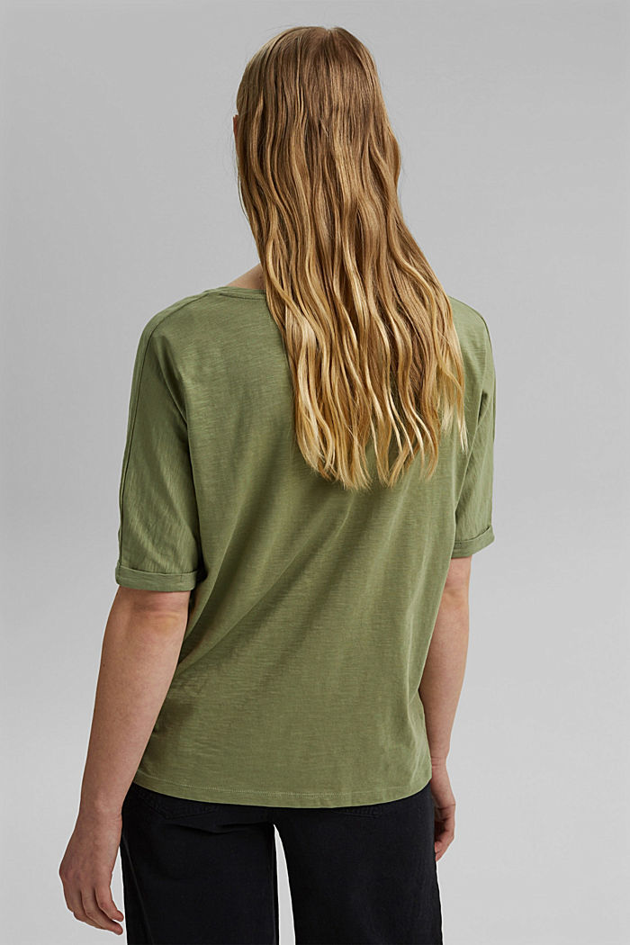 T-Shirt mit Line-Art, Organic Cotton, LIGHT KHAKI, detail image number 3
