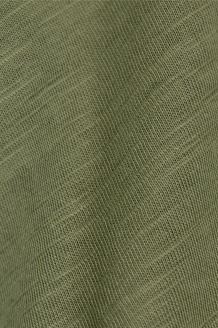 T-Shirt mit Line-Art, Organic Cotton, LIGHT KHAKI, detail image number 4