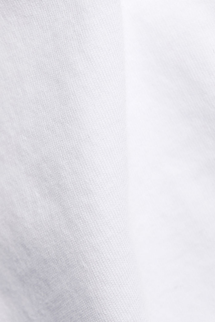 T-Shirt mit Volant-Ärmeln, Organic Cotton, WHITE, detail image number 4