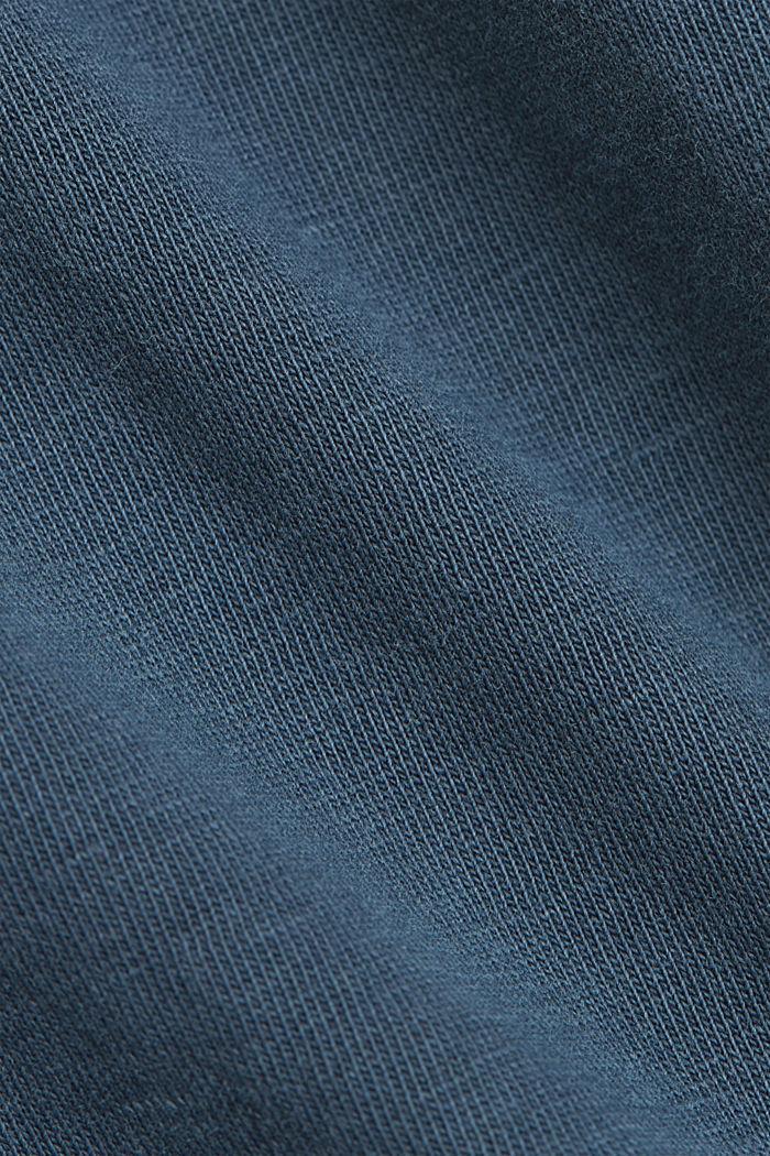 T-Shirt mit Volant-Ärmeln, Organic Cotton, NAVY, detail image number 4