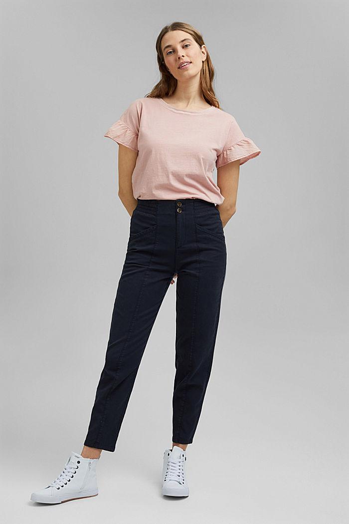 T-Shirt mit Volant-Ärmeln, Organic Cotton, NUDE, detail image number 1