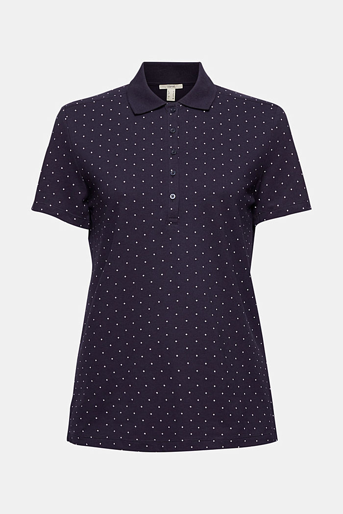 Piqué polo shirt with a print, organic cotton