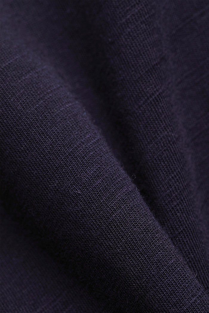 T-shirt with bobbin lace and flounces, NAVY, detail image number 4