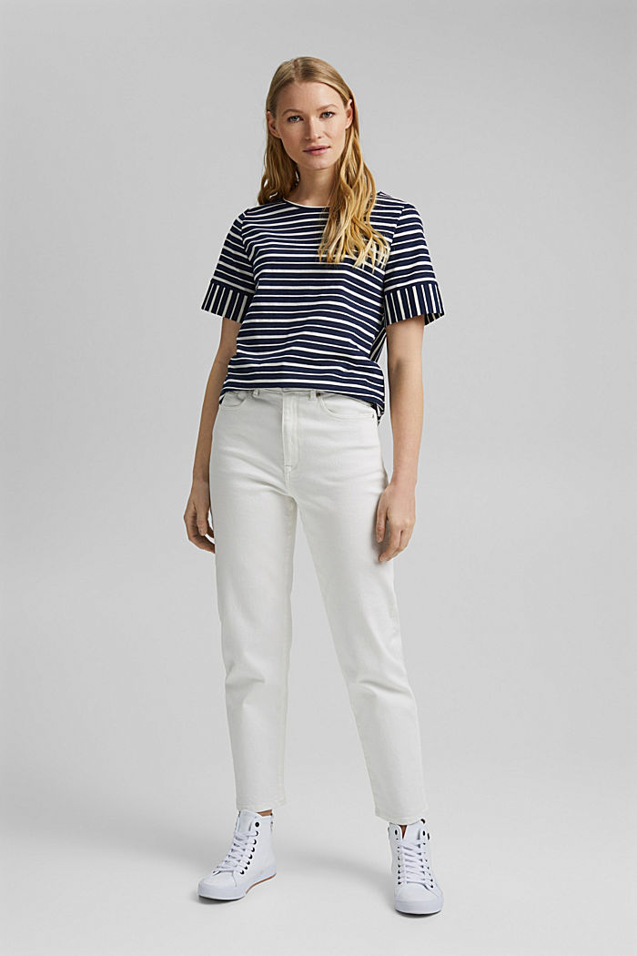 Striped T-shirt, organic cotton, NAVY, detail image number 1