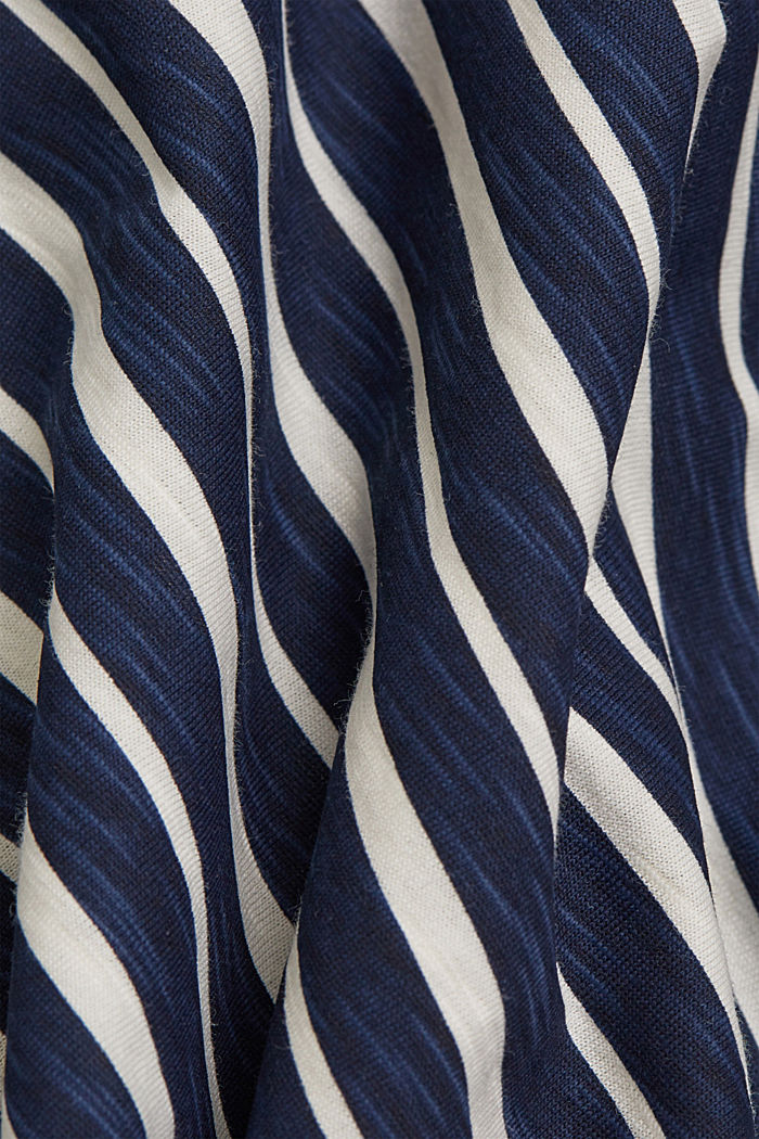 Striped T-shirt, organic cotton, NAVY, detail image number 4