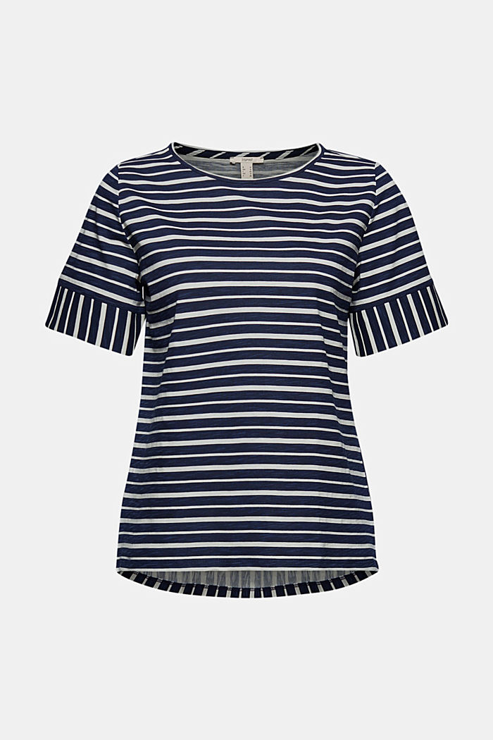 Striped T-shirt, organic cotton, NAVY, detail image number 5