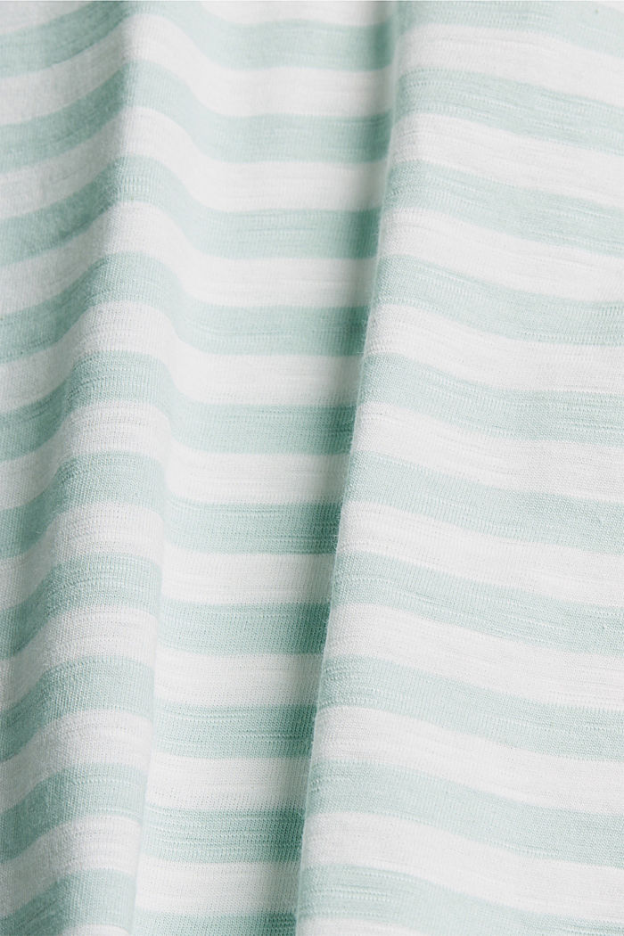 CURVY striped T-shirt, organic cotton, LIGHT AQUA GREEN, detail image number 4