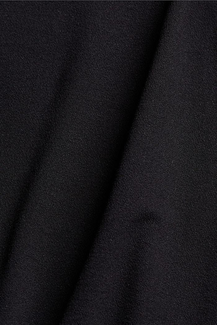 CURVY T-Shirt aus Materialmix, BLACK, detail image number 4