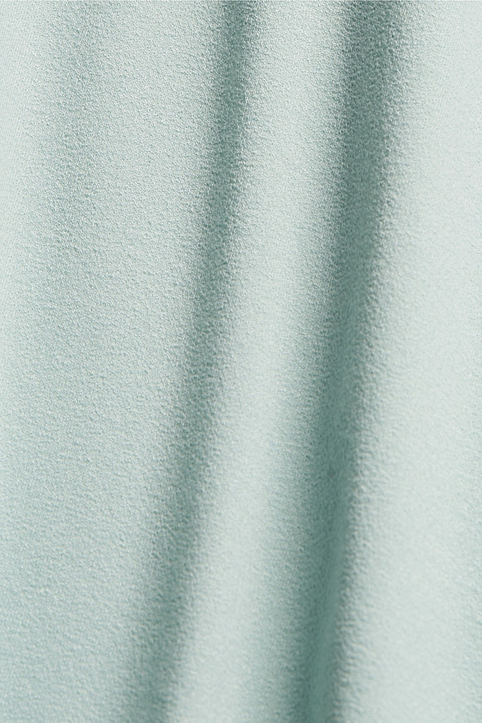 CURVY T-Shirt aus Materialmix, LIGHT AQUA GREEN, detail image number 4