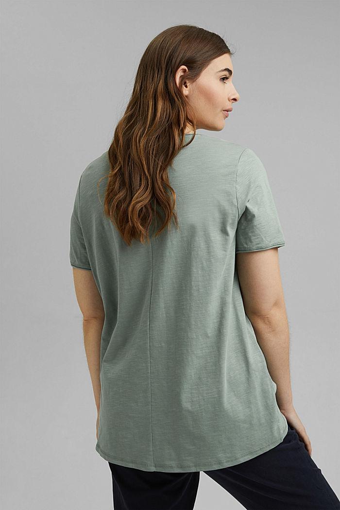 CURVY Print-Shirt, 100% Organic Cotton, TURQUOISE, detail image number 3