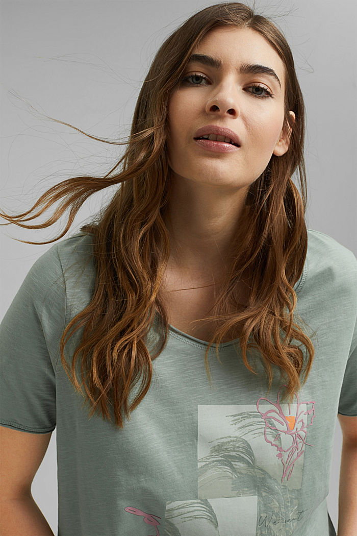 CURVY print T-shirt, 100% organic cotton