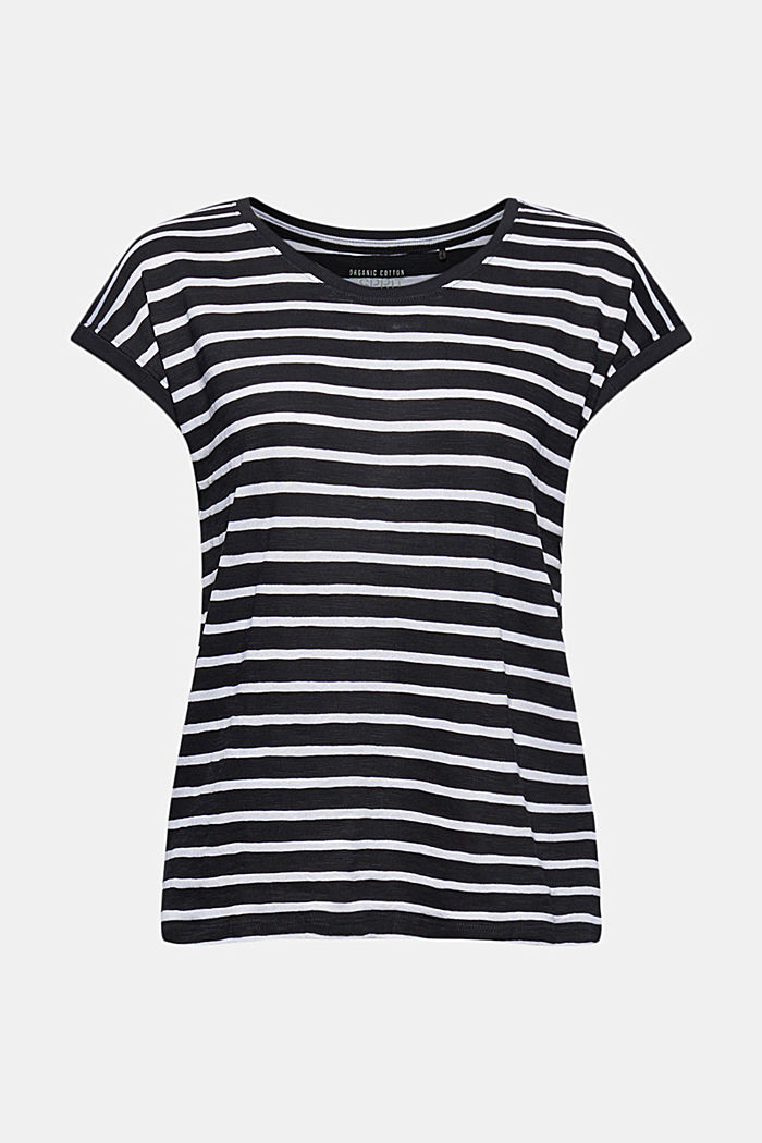 Recycled: T-shirt with stripes, organic cotton