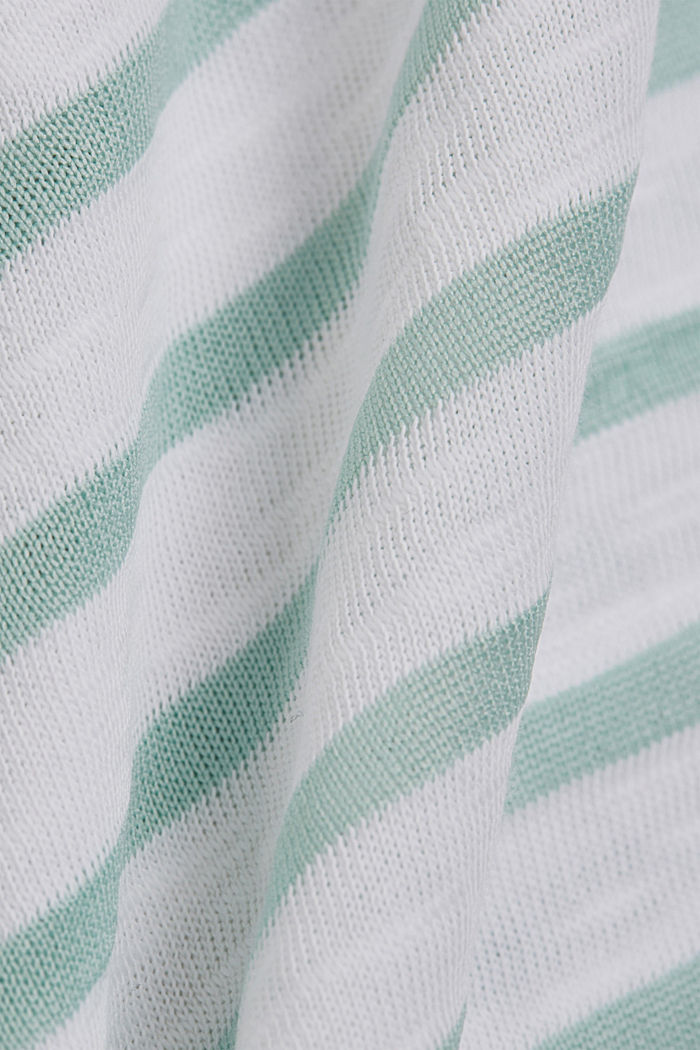 Recycled: T-shirt with stripes, organic cotton, WHITE, detail image number 4
