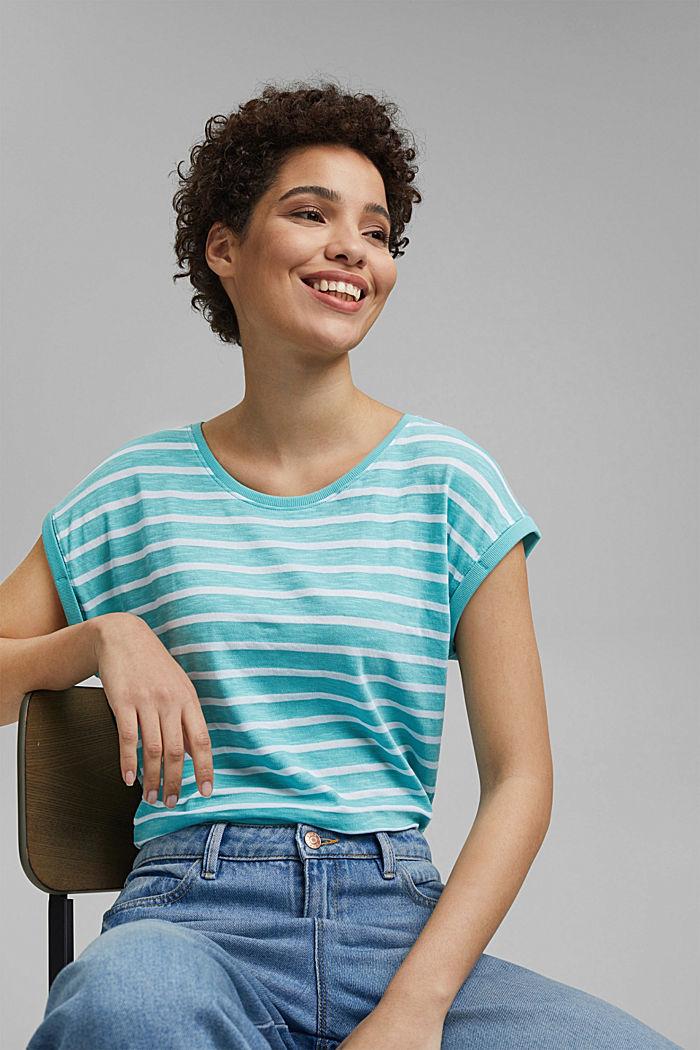 Gestreiftes Shirt aus Bio-Baumwoll-Mix