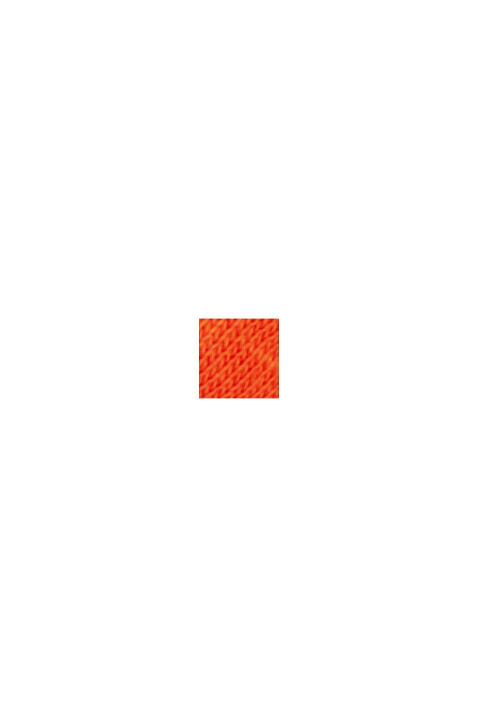 Gestreiftes Shirt aus Bio-Baumwoll-Mix, ORANGE RED, swatch