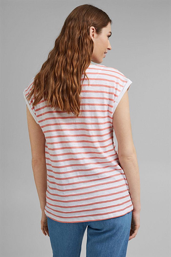 Recycelt: Shirt mit Streifen, Organic Cotton, PINK, detail image number 3