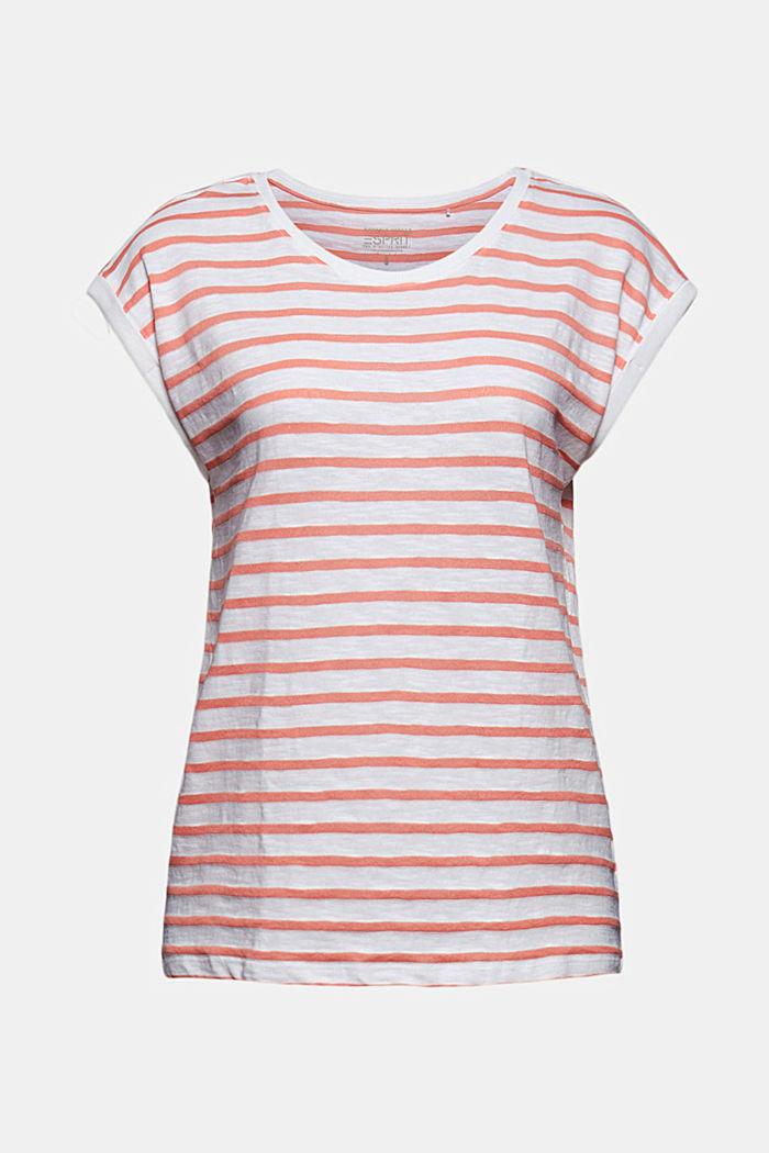 En matière recyclée: le t-shirt à rayures, coton biologique