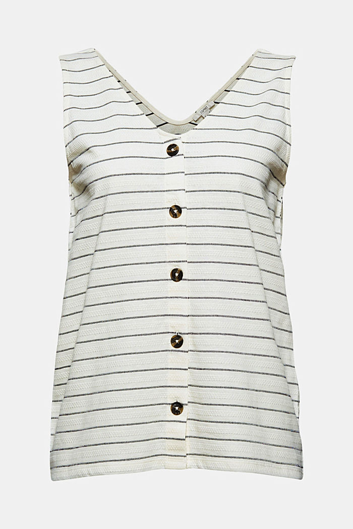 Recycled: striped top with a button placket, ICE, detail image number 5