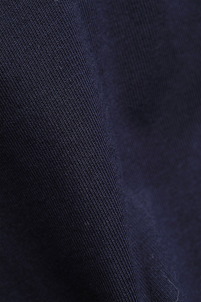 T-shirt with sleeves made of crocheted lace, NAVY, detail image number 4