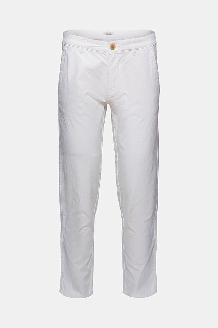 Airy chinos made of blended linen