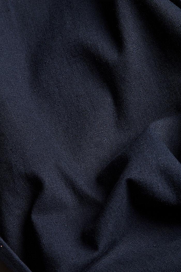 Leinenmix: Luftige Chino, DARK BLUE, detail image number 4