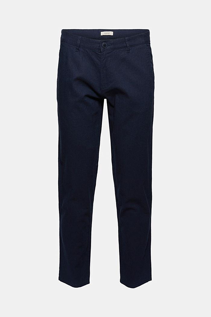 Mezcla de lino: pantalones chinos fluidos