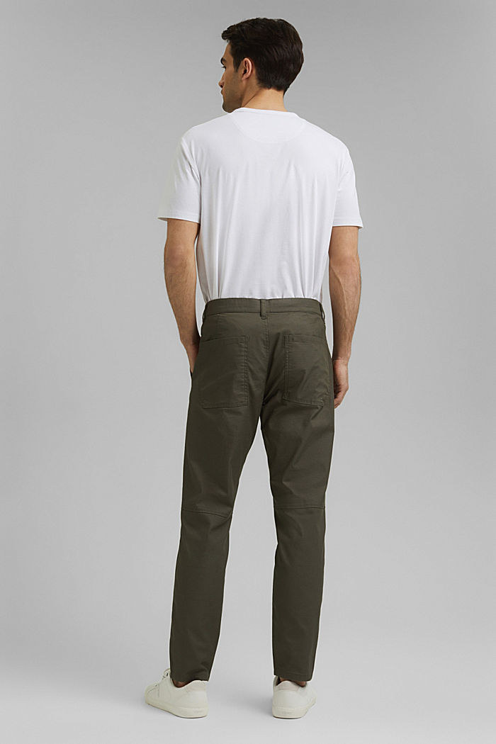 Cargo trousers with COOLMAX® and organic cotton, LIGHT KHAKI, detail image number 3
