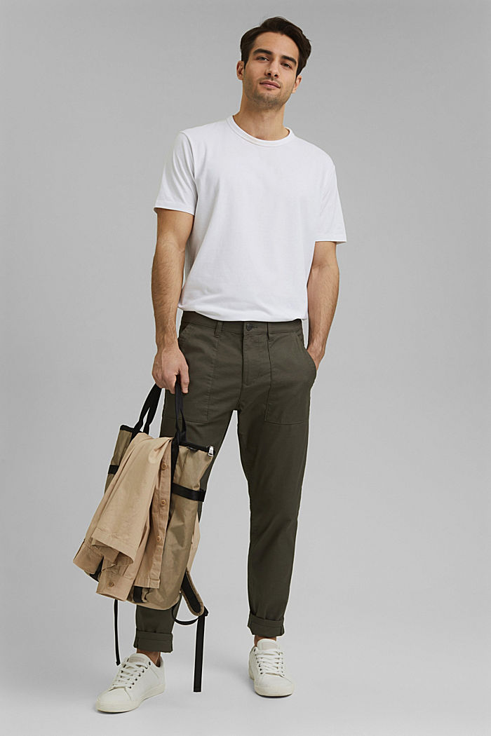 Cargo trousers with COOLMAX® and organic cotton, LIGHT KHAKI, detail image number 7