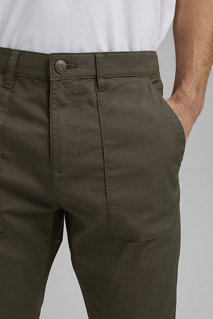 Cargo trousers with COOLMAX® and organic cotton, LIGHT KHAKI, detail image number 2