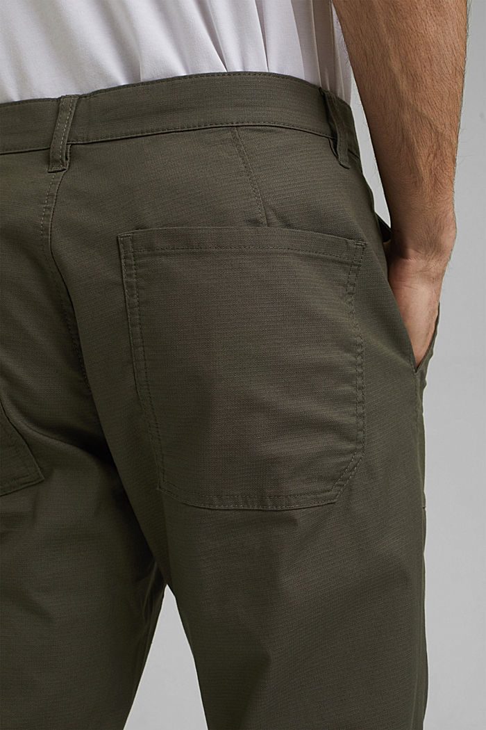 Cargo trousers with COOLMAX® and organic cotton, LIGHT KHAKI, detail image number 5