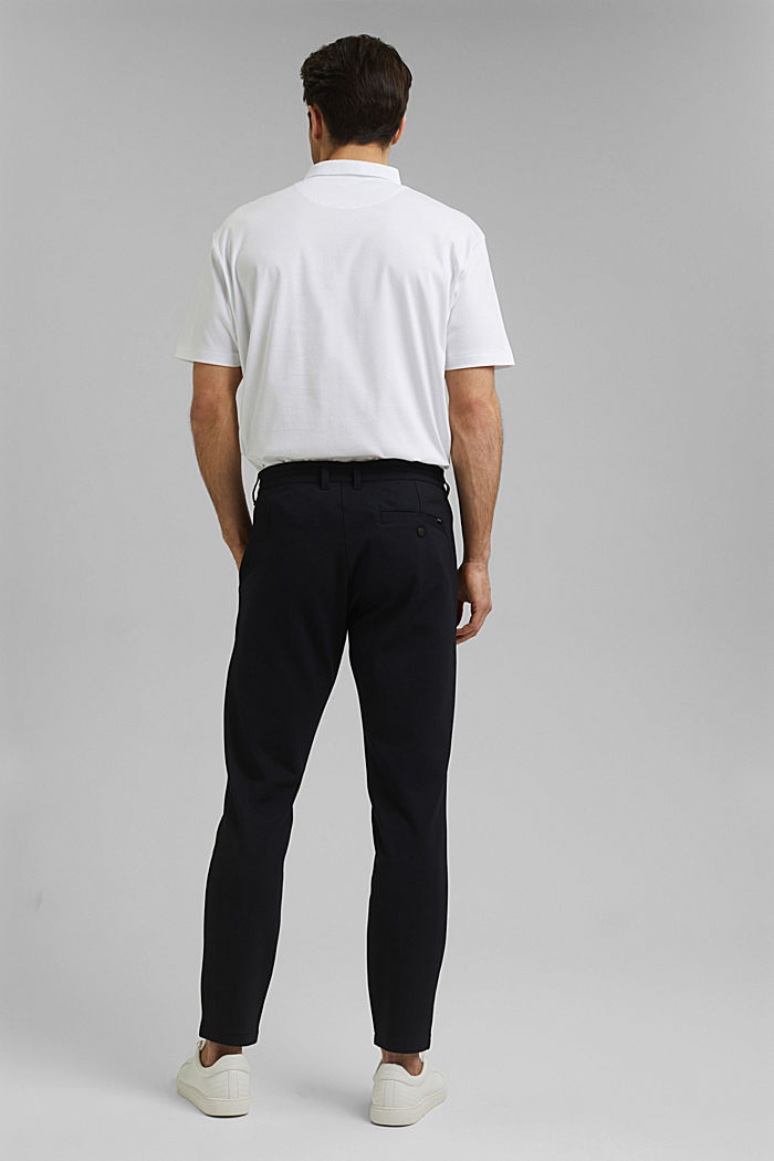 Chino tracksuit bottoms with LENZING™ ECOVERO™, BLACK, detail image number 3