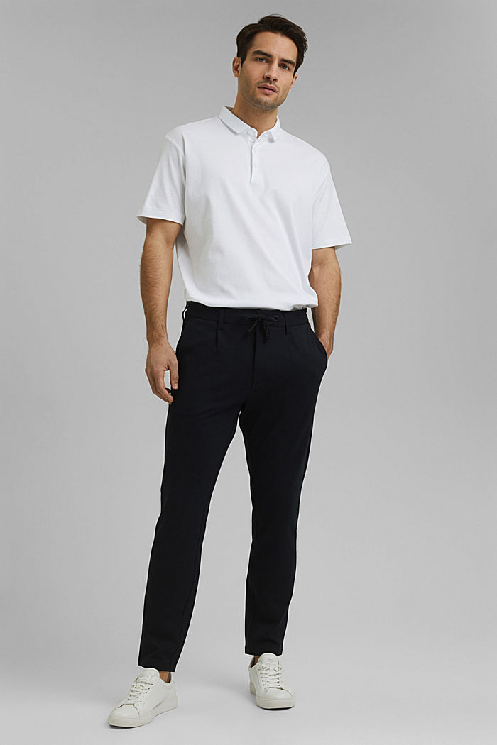 Chino tracksuit bottoms with LENZING™ ECOVERO™, BLACK, detail image number 5