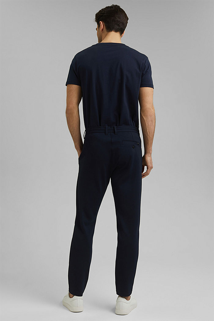 Chino tracksuit bottoms with LENZING™ ECOVERO™, NAVY, detail image number 3