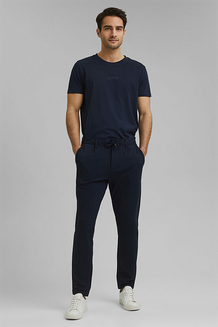 Chino tracksuit bottoms with LENZING™ ECOVERO™, NAVY, detail image number 6