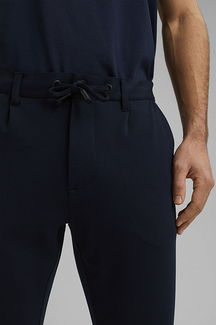 Chino tracksuit bottoms with LENZING™ ECOVERO™, NAVY, detail image number 2