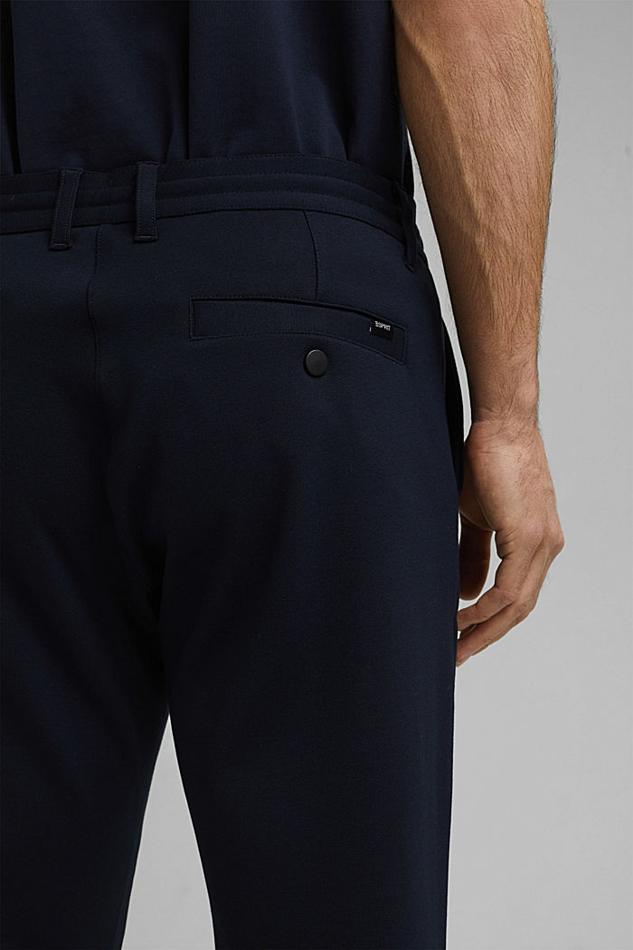 Chino tracksuit bottoms with LENZING™ ECOVERO™, NAVY, detail image number 5