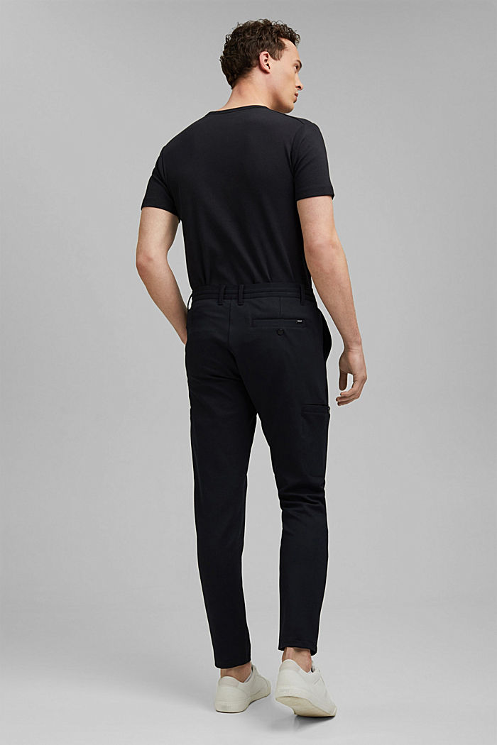 Cargo tracksuit bottoms with LENZING™ ECOVERO™, BLACK, detail image number 3
