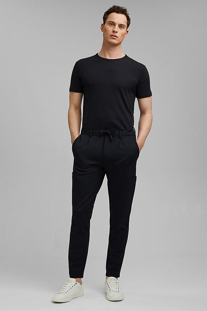 Cargo tracksuit bottoms with LENZING™ ECOVERO™, BLACK, detail image number 7